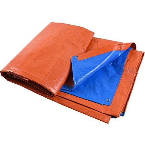 Heavy Duty Tarpaulin Oranje blauwe poncho/outdoor luifel doek/waterdichte doek zeil/geweven PE zonwering/zonwering luifel doek (8 maten) 8 * 12m
