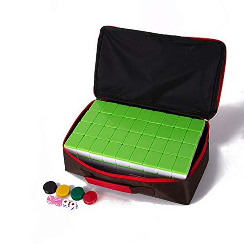 Boutique Mahjong Set,Ausgewählte Umweltfreundliche Und Gesunde Acrylproduktion, Reiseset Mahjongg Majiang Mah Jongg Sets Majong Brettspiel,Green,L