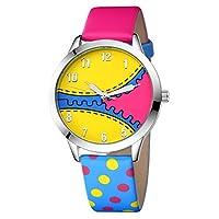ZooooM 腕 時計 ジッパー カラフル デザイン ウォッチ クォーツ ファッション カジュアル ギフト プレゼント 男性 女性 メンズ レディース (カラー 01) ZM-WATCH2588-01