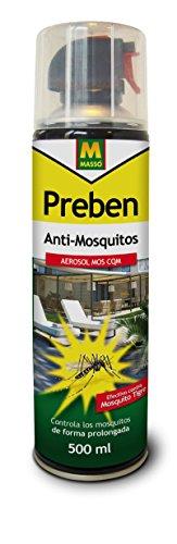 PREBEN 231306 Aerosol Anti-Mosquitos, Transparente, 6.5x25x6.5 cm