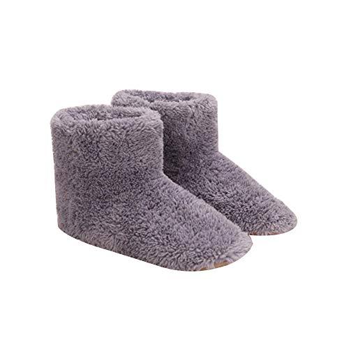 Elektrischer Fußwärmer, Weicher Plüsch USB Beheizte Schuhe Elektrisch Heizkissen Fußwärmer Kissen Paar Warme Schuhe für Füße Kälteentlastung Winter