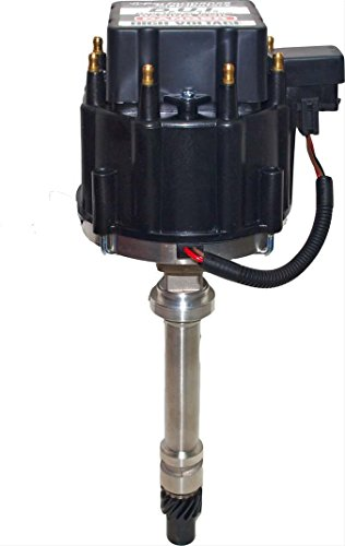 Distributor, Magnetic Pickup, Locked Advance, HEI Style Terminal, Black, Small Block Chevy, Each