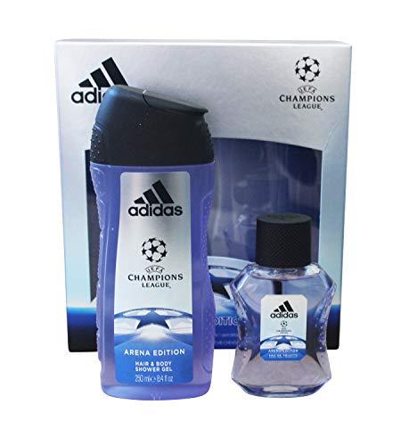 adidas UEFA CL Arena Edition Eau de Toilette + Shower Gel + Online Shop Gutschein, 300 ml