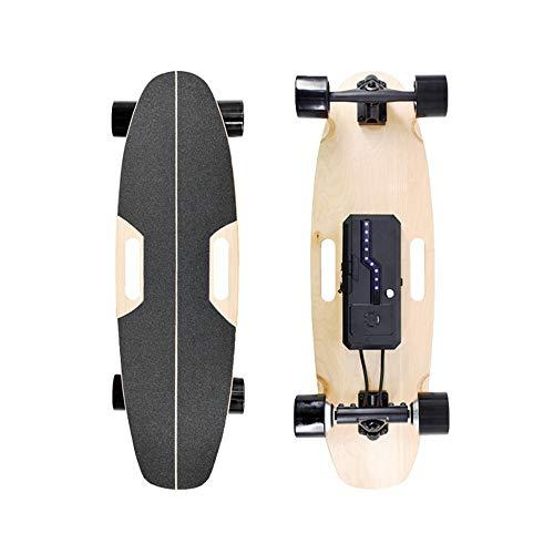 YH-Scooter Elektrische Longboard, Elektro Skateboard 4.4AH 7S2P Custom Batteriefach, ergonomische 4-Gang-Fernbedienung, motorisiertes Board zum Schnitzen und elektrisches Longboard-Skateboard