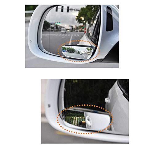 LYSHUI Espejo de Coche de 2 Piezas Auto 360 Gran Angular Redondo Convexo Espejo Lateral del vehículo Punto Ciego Espejo de Punto Ciego Pequeño Espejo retrovisor Redondo