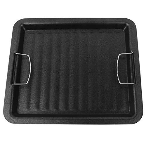Vkospy Grillpfanne im Freien Picknick Kochen Grill Bratpfanne Grill Bratpfanne Antihaft-Grill Roasting Stahlwanne 30 * 25cm
