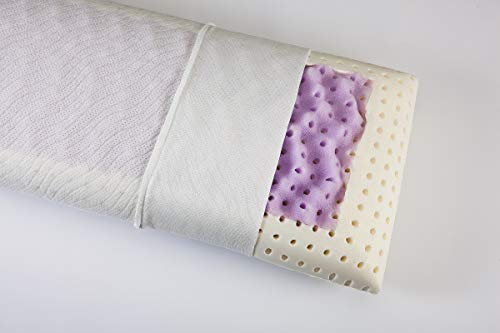 Ortho-Relax Visco-Kopfkissen Malve Breathe | 40x80 cm