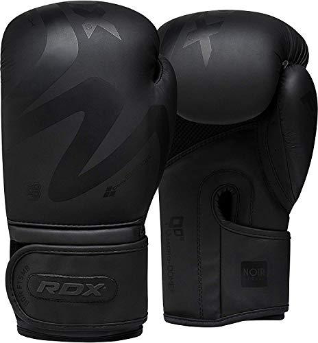 RDX Boxhandschuhe für Muay Thai und Training | Convex Skin Leder Punchinghandschuhe für Sparring, Kickboxen, Kampfsport, Boxsack Punching, Fitness, Sandsack Boxing Gloves (MEHRWEG)
