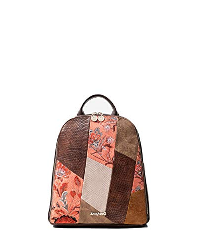 Woman Backpack DESIGUAL back japan patch nazca mini 20sakp24 uni brown