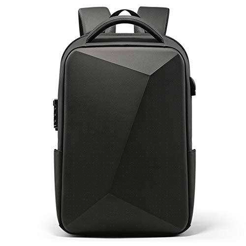 Mdsfe 2020 New Business Anti-Theft TSA Lock Men's Backpack USB Charging Waterproof 15.6 Inch Laptop Bag Men's Travel Bag - Regular Black, A3