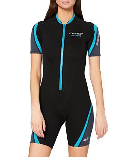 Cressi Playa Lady Shorty Wetsuit 2.5 mm - Kurzer Neoprenanzug für Damen aus hochelastischem Neopren 2.5mm, Verschiedene Farben