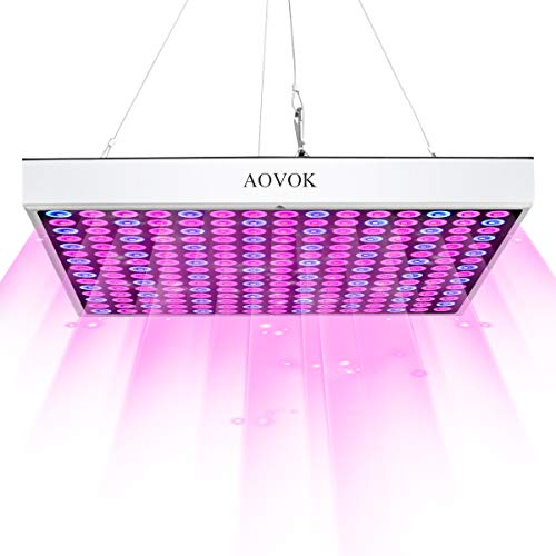 2 | AOVOK LED Grow Light, Grow Lamp Bulb Plant Light 45w Red and Blue for Indoor Plants