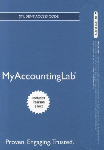 NEW MyLab Accounting with Pearson eText -- Access Card --...