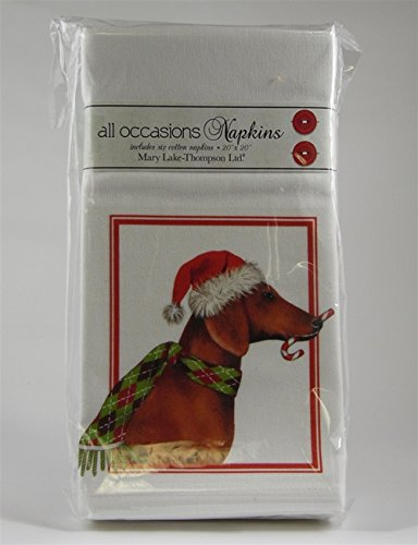 Dachshund Holiday All Occasions Napkins