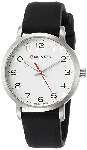 WENGER Reloj Analogico para Unisex de Cuarzo con Correa en Silicona 01.1621.103