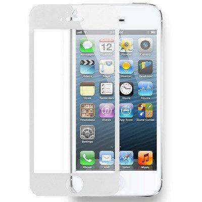 Dmtrab para Película Protectora de Vidrio Templado para iPhone 5 y 5s y 5c (Blanco)