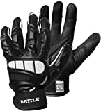 Battle Football Lineman Gloves, Adult, Black, Medium