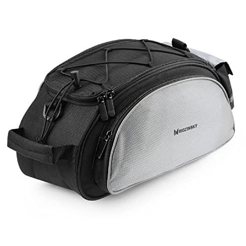 WOZINSKY Gepäckträgertasche Fahrradtasche für Gepäckträger Wasserdicht Reisetasche Tasche für Fahrrad, Mountainbike, ebike, MTB, Rennrad Bike Bag Fahrradträger Tasche 13 L
