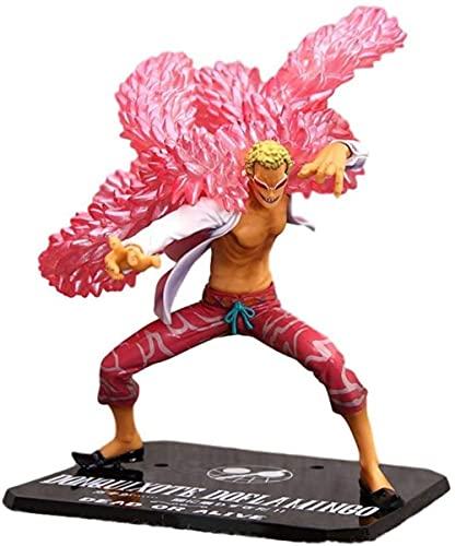 Ymdmds Alto 19cm una Pieza náutica Rey Don Quijote Dovran Mingge Xiaotang Escultura en Caja Regalo Modelo Ilustraciones Anime