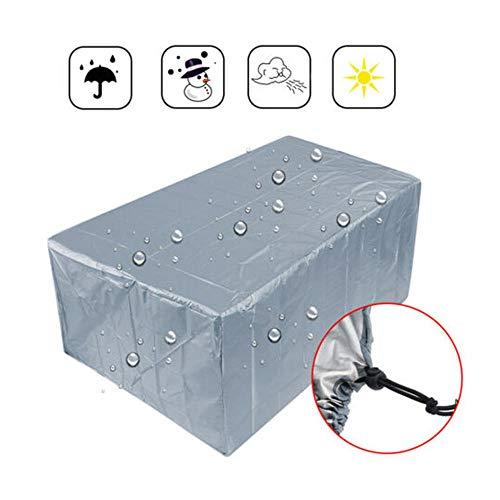 ddmlj para Jardín Rattan Table Cube Silla Sofá Multiuso A Prueba De Polvo Patio Al Aire Libre Protector De Plata Impermeable 210T Cubierta De Muebles-242 X 162 X 100 Cm