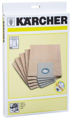Kärcher Papierfiltertüten 5St. für A2000E / TE, 6.904-072.0