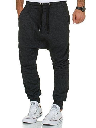 Tazzio Herren Jogginghose Harem Sporthose Fitnesshose Sweatpants P501 Anthrazit M