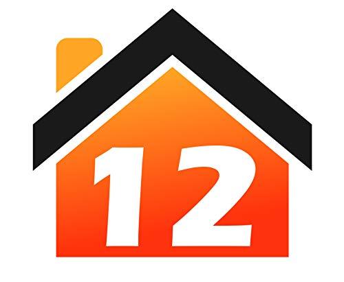 RJWprint Mülltonnen-Aufkleber Personalisierbar mit Adresse/Hausnummer 14 x 12 cm, 4 Stück