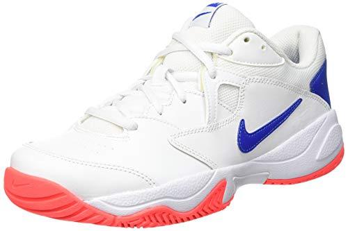 Nike NikeCourt Lite 2, Zapatillas de Tenis Hombre, Multicolor (White/Game Royal/Flash Crimson 103), 45 EU