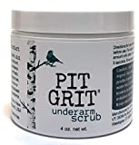 Pit Grit Underarm Scrub Armpit Detox Exfoliation to Fight Body Odor All Natural for use with Natural Deodorant
