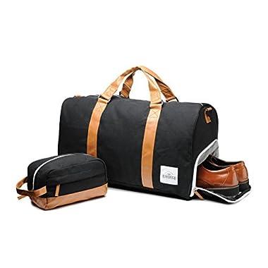 Overnight Bag & Toiletry Duffel Bag Set – Weekend Bag - Duffle Bags for Men - Gym Bags For Men - Workout Bag