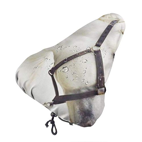 Like-like Horse Print Waterproof Bike Seat Rain Cover with Drawstring, Rain and Dust Resistant Cover