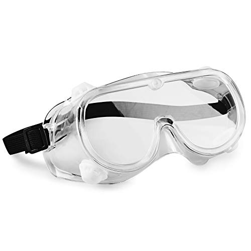 hand2mind 6 Inch Clear Safety Goggles, Meets ANSI Z87.1 Safety Standards (Pack of 10)
