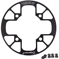 UPANBIKE - Protector de Cadena de aleación de Aluminio para Bicicleta de montaña 104 BCD para piñones de Cadena de 32~34T 36~38T 40~42T, 36T~38T, Negro