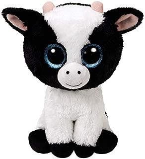 Ty Beanie Boo's 36841 Glitter Eye Pink Cow Butter Dish, 6-Inch, Black/White