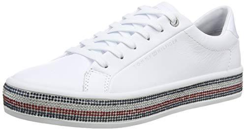 Tommy Hilfiger Damen Jupiter 18a2 Sneaker, Beige (White Ybs), 37 EU
