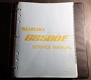 1990-1999 SUZUKI GS500E SERVICE MANUAL BINDER P/N 99500-34069-03E (471)