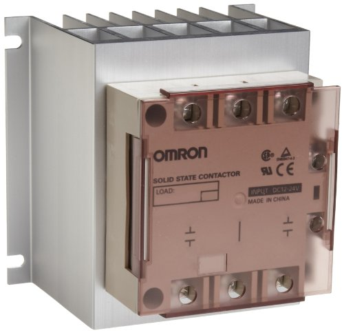 Omron G3PE-235B-2 DC12-24 Solid State Relay for Heaters, Zero Cross Function, Yellow Indicator, Phototriac Coupler Isolation, Triple-Phase, Screw Mounting, 2 Poles, 35 A Rated Load Current, 100 to 240 VAC Rated Load Voltage, 12 to 24 VDC Input Voltage