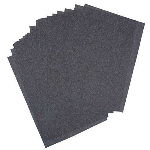 25 Sheets 9' x 13' Graphite Transfer Tracing Carbon Paper, for Drawings and...