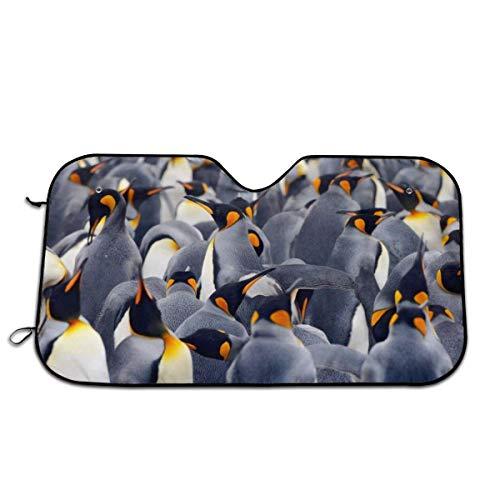 YudoHong Cubierta para parabrisas interior con diseño de pingüinos para ventanas de coche, kit de decoración para exteriores, accesorios para vehículos de coche, parasol para mujeres y hombres