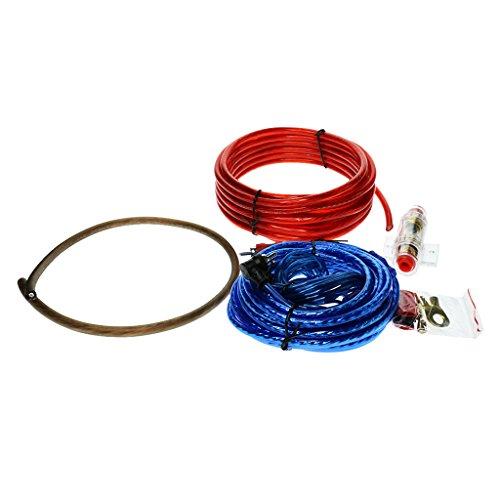 FLAMEER 4 Stücke Ersatz Auto Stereo Audio Subwoofer Verstärker Verdrahtung Kabel Set