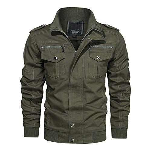 LUI SUI Giacca cargo casual da uomo primavera autunno militare bomber giacche giacca a vento tattico