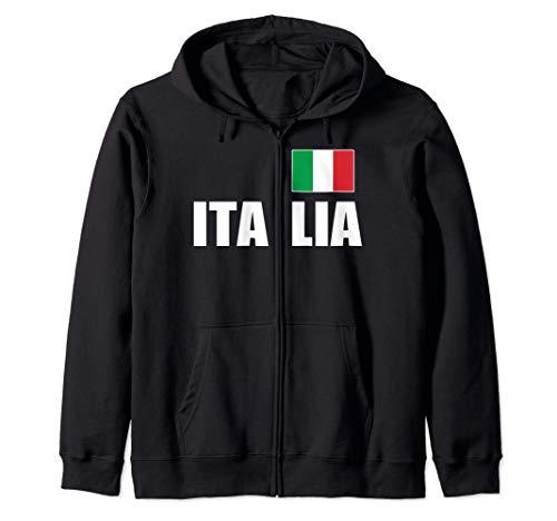 Italia Flag Italian Italy Italiano Home Family Heritage Felpa con Cappuccio