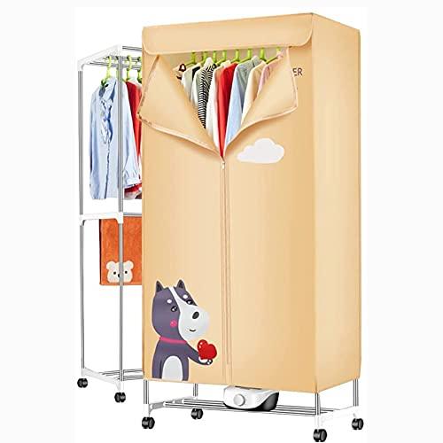 HFFFHA Máquina Plegable para el hogar, Acero Inoxidable de Doble Capa, Secadora de Ropa rápida Grande, calefacción de Aire Caliente, Carga de Carga 15 kg, Temporizador Ajustable, para Apartamentos