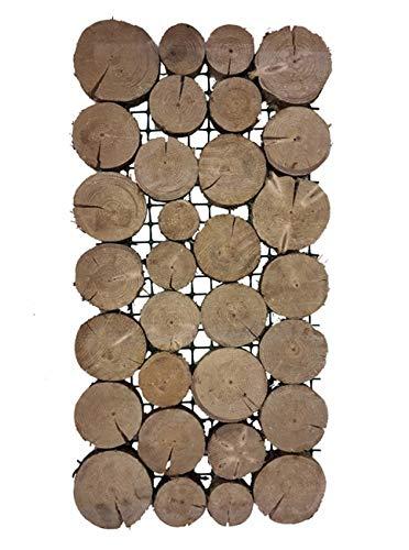 Tuinplaten, bouwplaten, padplaten, tuintreden houten stapen, houten tegels voor de weg in de tuin, tuinmat, set van 3, 80 x 40 cm