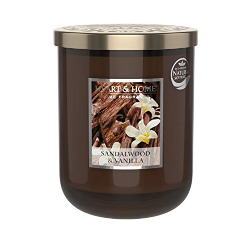 Heart & Home Large Candle 340g Sandalwood and Vanilla