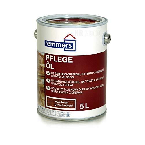 Remmers Pflege-Öl - Nussbaum 5L WPC terrassendielen Holzfarbe aussen Holzschutzlasur Bondex Holzlasur für außen HK Hartwachsöl Landhausfarbe Bambus WPC-Imprägnier-Öl