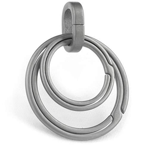 TISUR Titanium keyring for keychain, Side Pushing Key Rings Kit, Wisely Group Your Key
