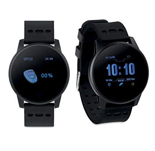 Pulsera Actividad Bluetooth 4.0 en Silicona. Batería Recargable de Li-Pol 180 mAh. Funcion con aplicación Gratuita Wearfit Disponible para iOS y Android, Disponible en Negro, Gris y Verde (Negro)