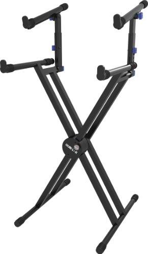 Quik Lok Tiered, Double Brace X Electronic Keyboard Stand (QL742)