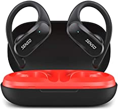 SENSO Wireless Earbuds - Bluetooth True Wireless Earphones - TWS Best Sport Headphones for Workout Noise Cancelling Sweatproof Ear Buds with Mic 40 Hours Playtime for iPhone, Running, Gym